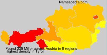 Surname Miller in Austria