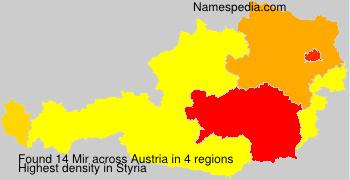 Surname Mir in Austria