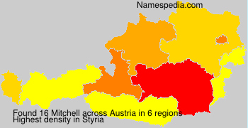 Surname Mitchell in Austria