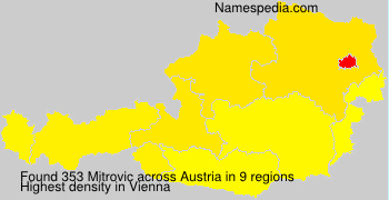 Surname Mitrovic in Austria