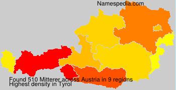 Surname Mitterer in Austria