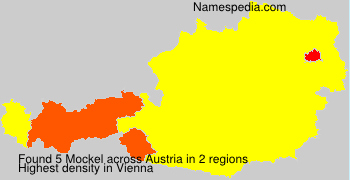 Surname Mockel in Austria
