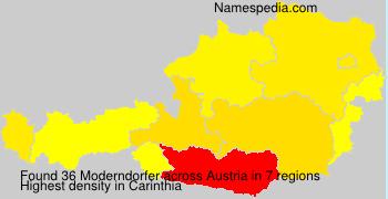 Familiennamen Moderndorfer - Austria