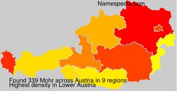 Surname Mohr in Austria