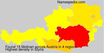Surname Molinari in Austria