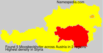 Surname Moosbeckhofer in Austria