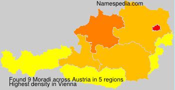 Surname Moradi in Austria