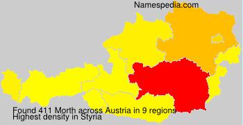 Surname Morth in Austria