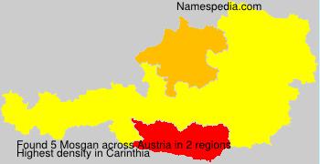 Familiennamen Mosgan - Austria