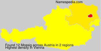 Familiennamen Mossig - Austria