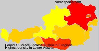 Surname Mracek in Austria