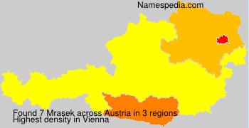 Surname Mrasek in Austria