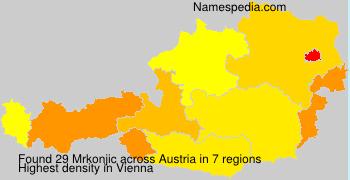 Surname Mrkonjic in Austria