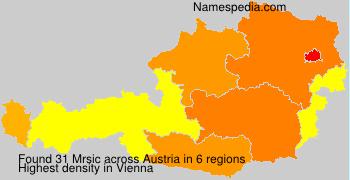 Familiennamen Mrsic - Austria