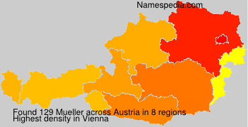Surname Mueller in Austria