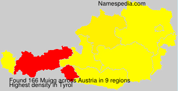 Surname Muigg in Austria