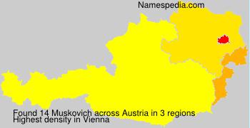 Surname Muskovich in Austria