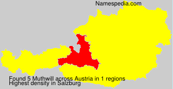 Surname Muthwill in Austria