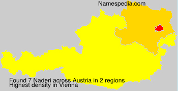 Surname Naderi in Austria