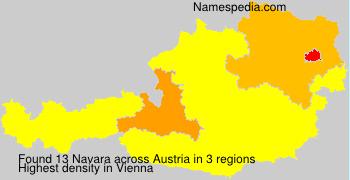 Surname Navara in Austria