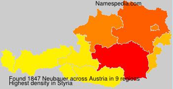 Surname Neubauer in Austria