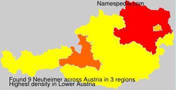 Familiennamen Neuheimer - Austria
