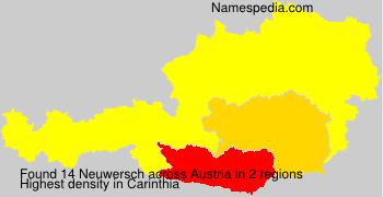 Surname Neuwersch in Austria