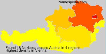 Surname Nezbeda in Austria