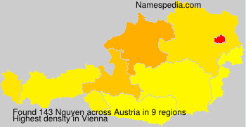 Surname Nguyen in Austria