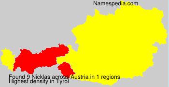 Surname Nicklas in Austria