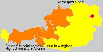 Surname Nicolai in Austria