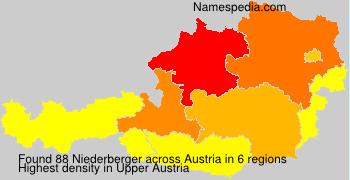 Familiennamen Niederberger - Austria