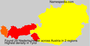 Surname Niedertscheider in Austria
