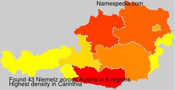Surname Niemetz in Austria