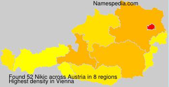Surname Nikic in Austria