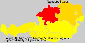 Familiennamen Nimmervoll - Austria