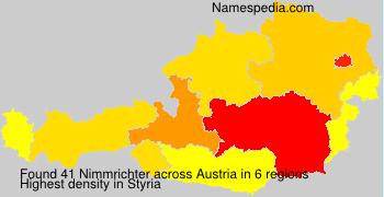 Familiennamen Nimmrichter - Austria