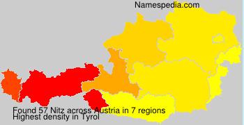 Familiennamen Nitz - Austria