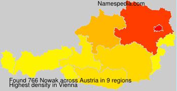 Surname Nowak in Austria