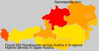 Surname Nussbaumer in Austria