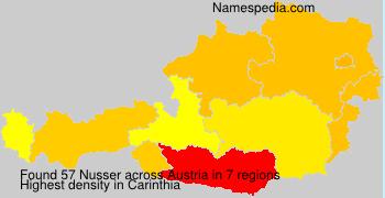 Surname Nusser in Austria