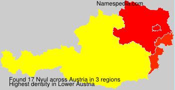 Familiennamen Nyul - Austria