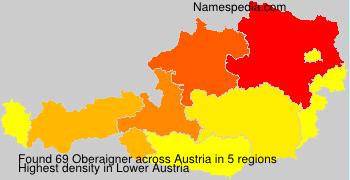 Surname Oberaigner in Austria
