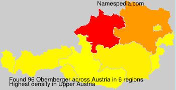 Surname Obernberger in Austria