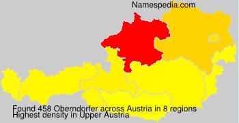 Surname Oberndorfer in Austria