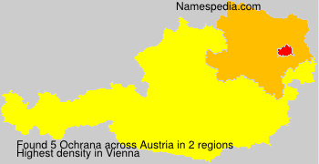 Surname Ochrana in Austria