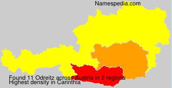 Surname Odreitz in Austria