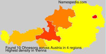 Surname Ohnesorg in Austria