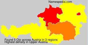 Familiennamen Ojo - Austria