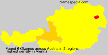 Surname Okumus in Austria